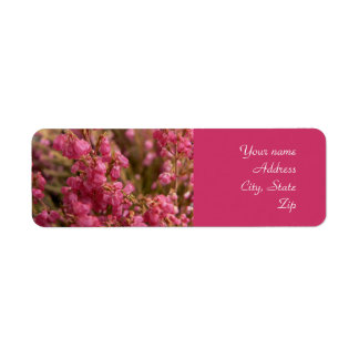 Red Heather flowers address labels