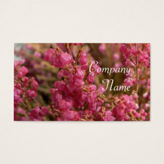 Red Heather flowers Business Card