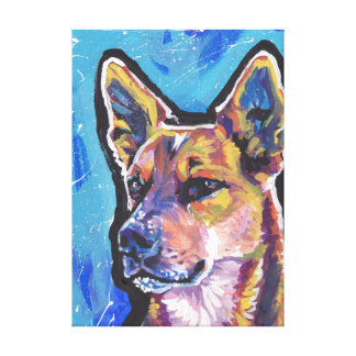 Red Heeler Australian Cattle Dog Pop Art Canvas Print