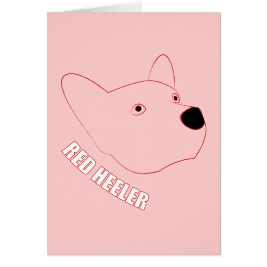 Red Heeler Card