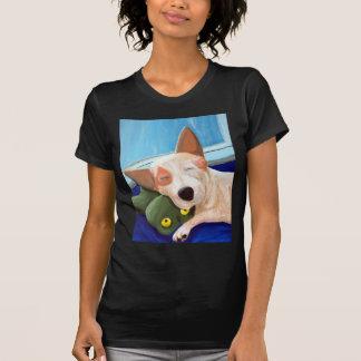 Red Heeler Cuddling Frog Painting T-Shirt