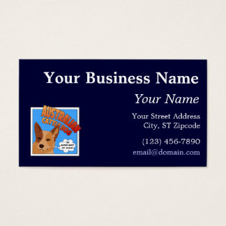 Red Heeler Super Hero Business Card