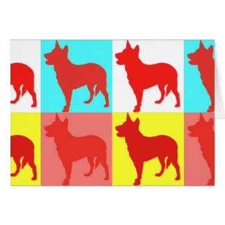 Red Heelers Color Wall Card