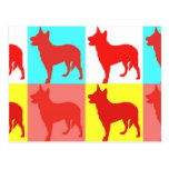 Red Heelers Color Wall Postcard