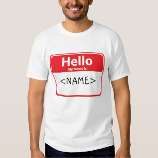 Red Hello My Name is , <NAME> Shirt