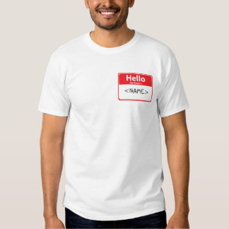 Red Hello My Name is , <NAME> T Shirt