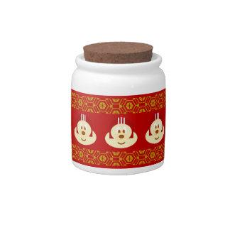 Red Helmet 鮑 鮑 Candy Jar