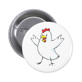 Red Hen Cartoon Button