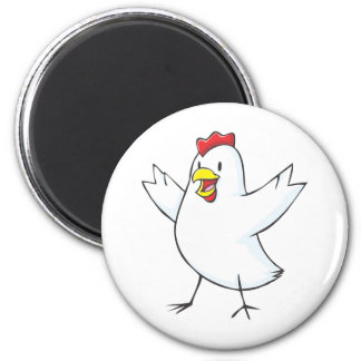 Red Hen Cartoon Magnet