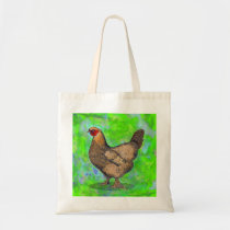 Red Hen Chicken Tote Bag