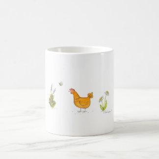 Red Hen In the Garden Coffee Mug