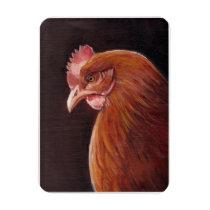 Red Hen Profile Bird Art Magnet