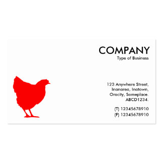 Red Hen Symbol - White Double-Sided Standard Business Cards (Pack Of 100)