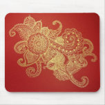 Red Henna Paradise Mouse Pad