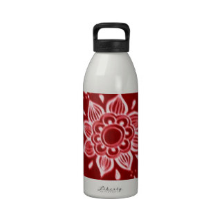 Red,Henna Reusable Water Bottle