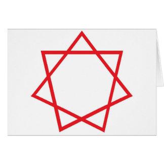 Red Heptagram Card