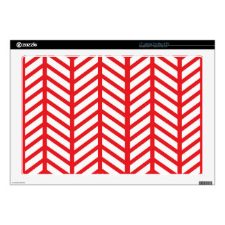 "Red Herringbone Decal For 17"" Laptop"