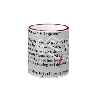 red herrings crime mystery ringer coffee mug