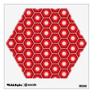 Red Hex Tiled Wall Decal