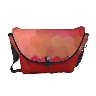 Red Hexagon Seamless Pattern Messenger Bag
