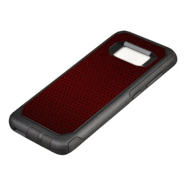 Beach Themed Red Hexagonal Carbon Fiber Honeycomb Mesh OtterBox Commuter Samsung Galaxy S8 Case