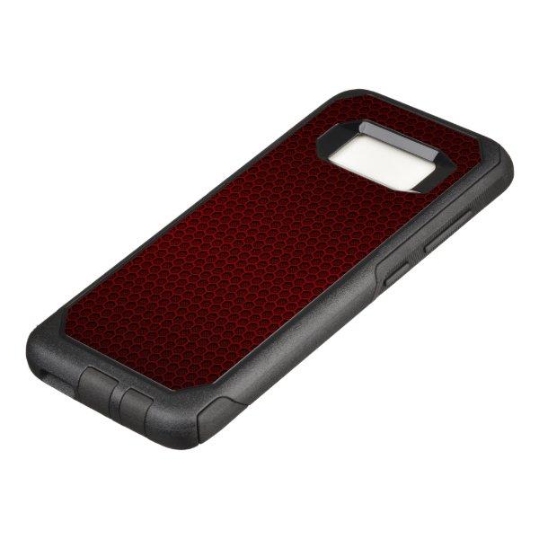 Red Hexagonal Carbon Fiber Honeycomb Mesh OtterBox Commuter Samsung Galaxy S8 Case
