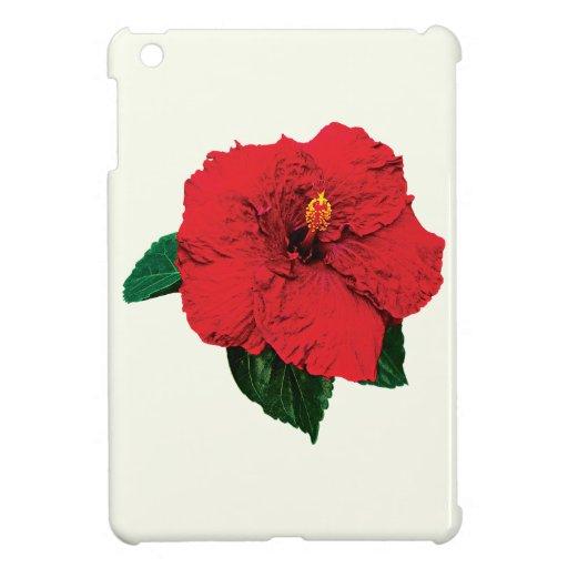 Red Hibiscus Case For The iPad Mini