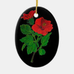 Red Hibiscus Christmas Ornament