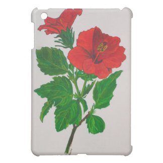 Red Hibiscus Cover For The iPad Mini
