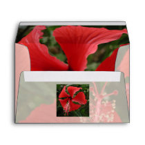 Red Hibiscus Envelope