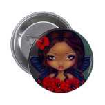 """""""Red Hibiscus Fairy"""" Button"""