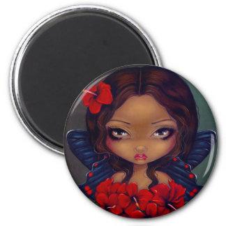 """""""Red Hibiscus Fairy"""" Magnet"""