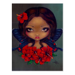 """Red Hibiscus Fairy"" Postcard"