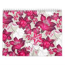 Red hibiscus floral calendar