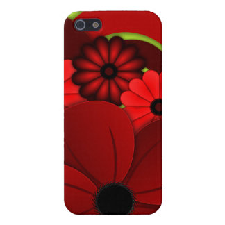 Red Hibiscus Floral iPhone 5 5S Case Savvy Glossy