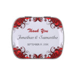 Red Hibiscus Floral Wedding Favor Candy Tins Candy Tin