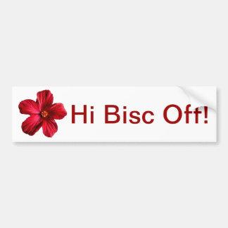 Red Hibiscus Flower Bumper Sticker
