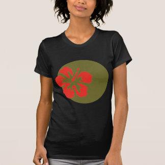 Red Hibiscus Flower Custom Design T-Shirt