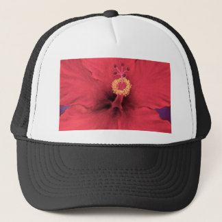 Red Hibiscus Flower Painting - Multi Trucker Hat