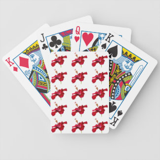 Red Hibiscus Flower Side View Bicycle Playing Cards
