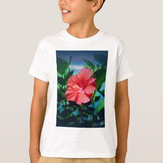 Red Hibiscus Flower T-Shirt