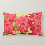 Red Hibiscus Flowers Pillow