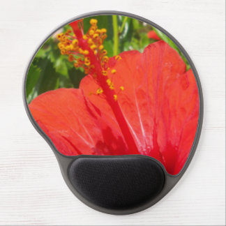 Red Hibiscus Gel Mouse Pads