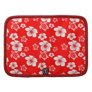 Red Hibiscus Honu Hawaiian Pattern Organizer