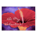 Red Hibiscus I Love You Valentine ... - Customized Card