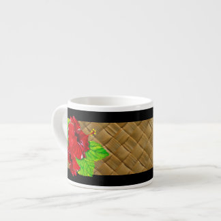 Red Hibiscus Illustration Specialty Mug