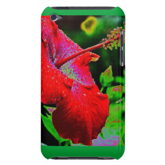 Red Hibiscus iPod Cse Case-Mate iPod Touch Case