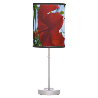 Red Hibiscus Table Lamp