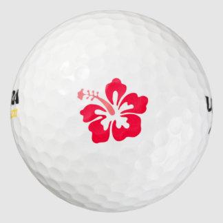 Red Hibiscus Logo Golf Ball Pack Of Golf Balls