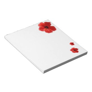 Red Hibiscus Notepad